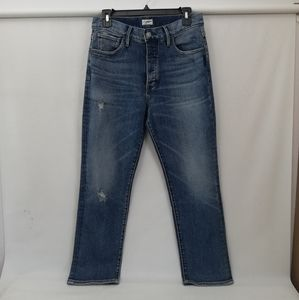 Silver jeans Co. Ankle Straight Button fly Jeans